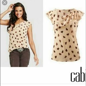 Cabi Semi Sheer Floral Sleeveless Top